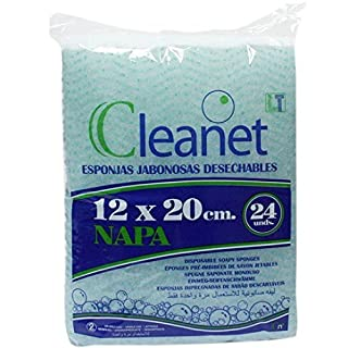 Cleanet: disposable soapy sponges 12x20 3,17oz. 10 packages x 24 units (240)
