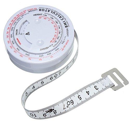 Preisvergleich Produktbild BMI Body Mass Index einziehbare Maßband & Calculator Für Diet Weight Loss