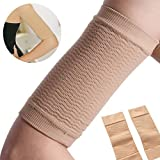 EDTara Women Weight Loss Thin Arm Fat Slimmer Wrap Elasticity Belt Arms Sleeve 2 Pcs Skin Color