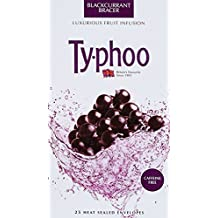 Typhoo Black Currant Bracer Fruit Infusion, 25 Envelopes