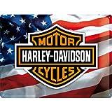 Nostalgic-Art 23126 Harley-Davidson - USA Logo, Blechschild 30x40 cm