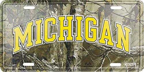 Michigan Camo License Plate -