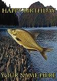 Brassen Fisch Angler Angeln nbc5Happy Birthday A5personalisierbar Grußkarte geschrieben von uns Geschenke für alle 2016von Derbyshire UK