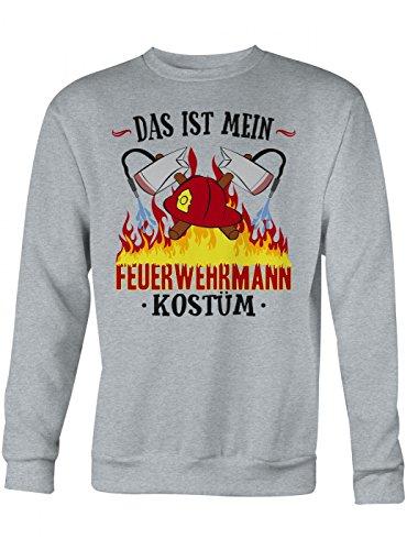 n Premium Sweatshirt | Verkleidung | Karneval | Fasching | Unisex | Sweatshirts, Farbe:Graumeliert;Größe:XL (Günstige Feuerwehrmann Kostüm Ideen)