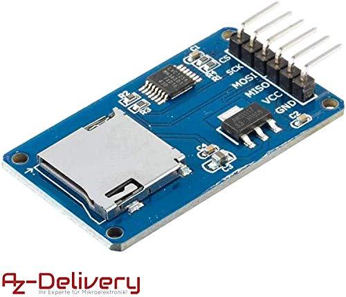 AZDelivery ⭐⭐⭐⭐⭐ SPI Reader Lector de Tarjeta SD TF modulo Memory Card Shield para Arduino con ebook Gratis!
