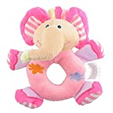Momongel Baby Infant Kids Gifts Cute Soft Pink Elephant Plush Rattle Educational CM© toys