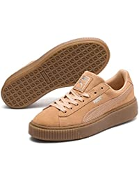 Puma Suede Platform Animal, Baskets Basses Femme, Noir
