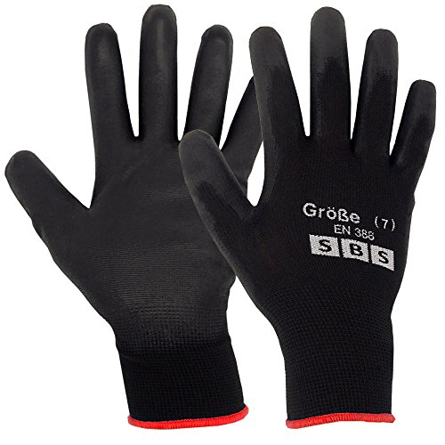 12 pares de guantes de nailon SBS