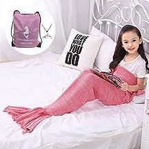 Niños Modelo que hace punto cola de la sirena de la manta por Moens, suave y colas de sirena de dormir caliente Manta Bolsa de Aire Acondicionado de pijamas ...