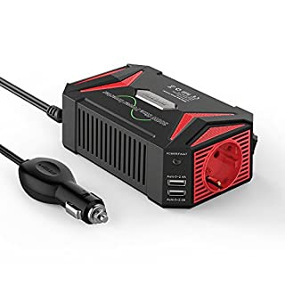 Sinus wechselrichter 12v auf 230v/BESTEK 300W stromwandler 12 auf 230/steckdose Auto Adapter/Auto wechselrichter,Inverter,inkl. Kfz Zigarettenanzünder Stecker