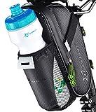ROCKBROS Fahrrad Satteltasche mit Flaschenhalter • Fahrradtasche Schwarz Wasserdicht •