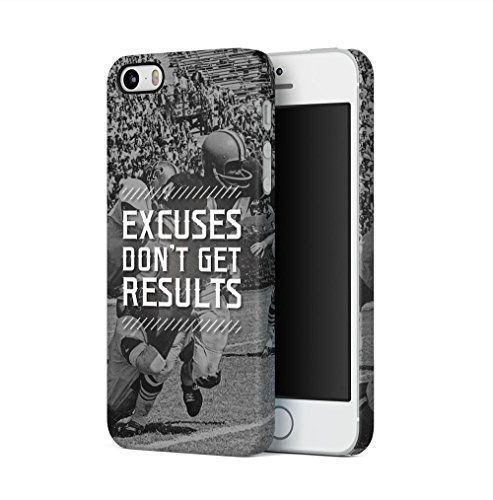 American Football Excuses Dont Get Results Apple iPhone 5 / iPhone 5S / iPhone SE SnapOn Hard Plastic Phone Protective Fall Handyhülle Case Cover Iphone 5 Fall-hockey