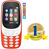 Rextan A3310 Dual Sim Multimedia Mobile, Multi-Function Phone With Camera Compatible With All Smartphones (One Year Warranty)