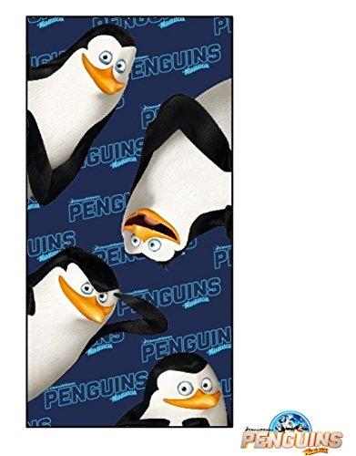 Penguins of Madagascar- Tolle Gechenkidee für Kinder - Handtuch/Saunatuch / Strandtuch/Duschtuch / Badetuch - 70 x 140 cm - 100% Baumwolle