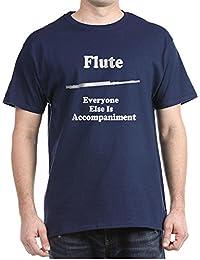 CafePress - Funny Flute Gift Dark T-Shirt - 100% Cotton T-Shirt