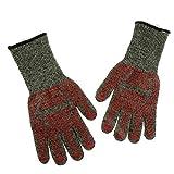 B Blesiya 2 Stücke Feuerfeste Handschuhe für grill Grillhandschuhe Kochenhandschuhe Ofenhandschuhe Wasserfest Backhandschuhe