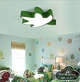 DEED Decke Licht-Kinder Schlafzimmer Lichter Kreative Cartoon Maple Blatt Lichter für Jungen Schlafzimmer Mädchen Raum Kindergarten klassenzimmer in 5 Farben -Home Warme deckenleuchte,Grün-Weißes Li