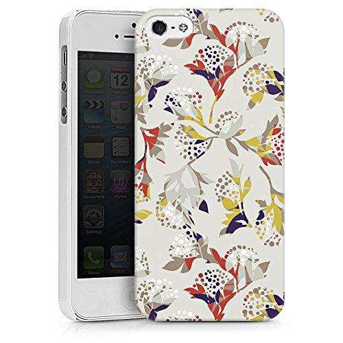 Apple iPhone X Silikon Hülle Case Schutzhülle Blumen Muster Ornament Hard Case weiß
