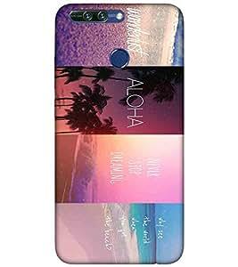 For Huawei Honor 8 Pro wonderlust ( wonderlust, aloha, never stop dreaming, good quotes, pattern ) Printed Designer Back Case Cover By TAKKLOO