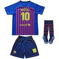 BTA APPAREL 2018/2019 Barcelona #10 Lionel Messi Heim Kinder Fußball Trikot Hose und Socken Kindergrößen