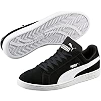 Puma Smash SD Suede Leather Sneaker Men Trainers Black 361730 01