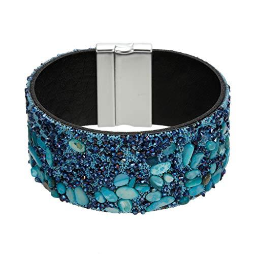 d Armreif Mode Hundert passenden Stein und Diamantperlen Perlen Armband Damen Jewelr ()