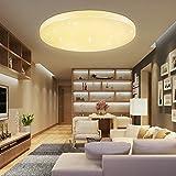 VINGO® 50W Mordern Deckenleuchte Schönes LED Warmweiß 2700K-3000K Rund Φ450*95mm Deckenlampe Starlight Korridor Wandlampe Badleuchte Wohnzimmer