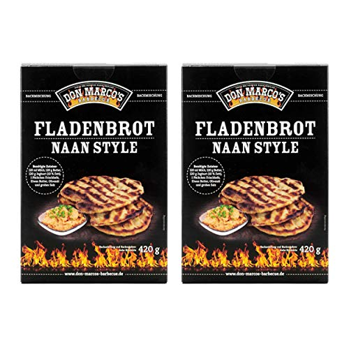 Don Marco`s KS0022 Don Marco´s Barbecue Fladenbrot Naan Style Backmischung 2er-Set