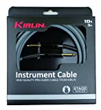 Kirlin IPD201-3GA Stage Câble jack pour Instrument Gris