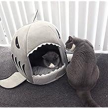 Elegant BADASS SHARKS 2 In 1 Haustier Hund Katze Hai Soft Bett, Schlafsack,