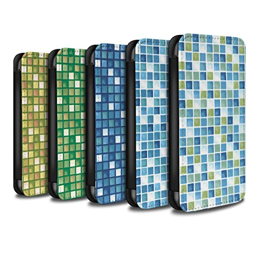 Stuff4 Coque/Etui/Housse Cuir PU Case/Cover pour Apple iPhone 5C / Pack (15 modèles) Design / Carreau Bain Collection Pack (15 modèles)