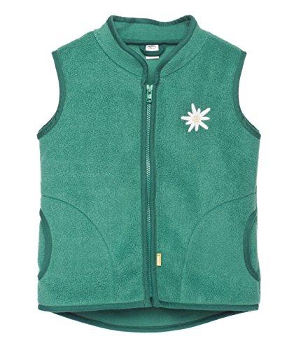 Kinder Fleece Weste gestickt aus superweichem Fleece, Alpen, grün, 98/104, von be baby!