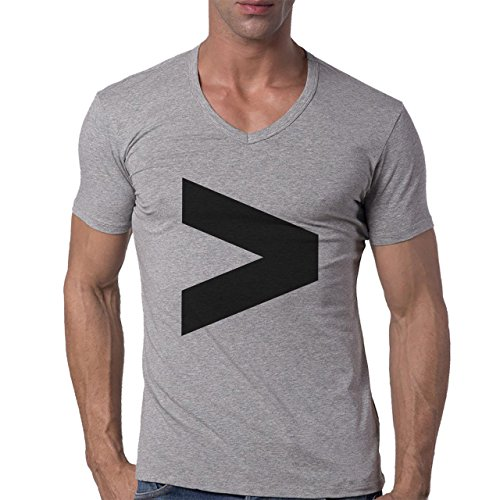 Number Math Symbol Calculus Equations More Herren V-Neck T-Shirt Grau