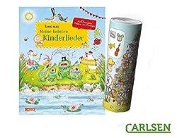 Sing mal: Meine liebsten Kinderlieder (Hardcover) + Musik Instrumente Wimmel-Poster