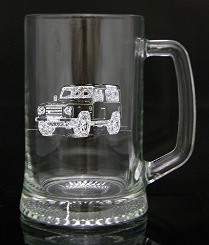 personalised-engraved-pint-glass-tankard-gift-landrover-design-custom-gift-engraved-free