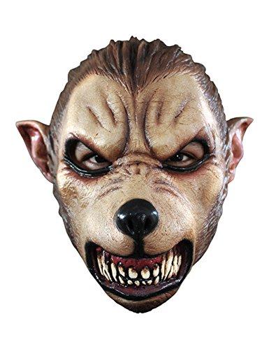 Cartoon Werwolf Halloween Maske schwarz braun