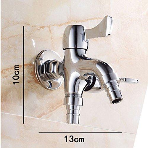 Tourmeler Chrom Bestseller doppelte Funktion zwei auswurfkrümmer Waschmaschine Wäscheservice Wasserhahn an der Wand montiert