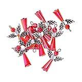 B Baosity 12 Stück DIY Bastelset Engel Flügel Fee Anhänger Perlenengel Schutzengel Acryl Perlen Beads für Halskette Kette Schmuckherstellung - rot, wie beschrieben