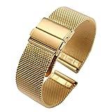 milanese Uhrenarmband-Bügel Metallgewebe Armband für Uhr-Edelstahl-Gold 18mm