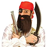 Amakando Piraten Set Pirat Kopftuch Bart Augenklappe Piratenparty Verkleidung Fasching Piratenkostüm Set Seeräuber Freibeuter Faschingskostüm Set Karibik Mottoparty Accessoire Karneval Kostüm Zubehör