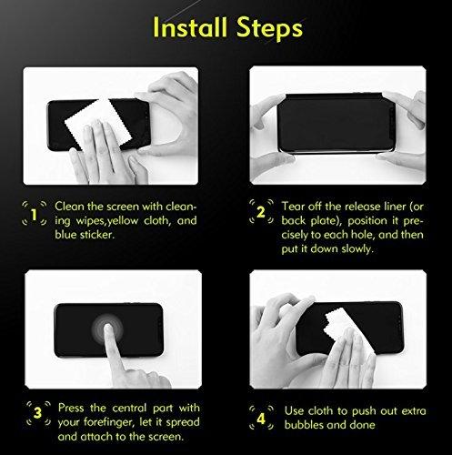 CellShell 3D Edge to Edge Full Glue, No Rainbow, Full Front Body Cover Tempered Full Glass Screen Protector Guard for LG V20 - Black
