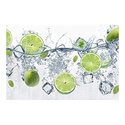 Tapete selbstklebend - Erfrischende Limette - Fototapete Querformat 190 x 288 cm