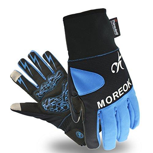Touchscreen Handschuhe Winter Fahrradhandschuhe Mit 3M Thinsulate ™ Insulation Warmes Material,Warm Winddicht ,wasserdicht Skihandschuhe Winterhandschuhe für Ski,Motorrad,Fahrradfahren, Reiten, USW. (XL, 3M-Blau)