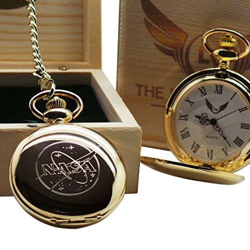 nasa-logo-gold-pocket-watch-full-hunter-with-chain-luxury-gift-box-space-shuttle-moon