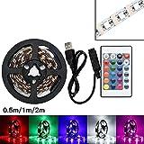 Kangrunmys Lampe De Bande LED USB Lampe ArrièRe 5050 Rvb Changement De Couleur +...