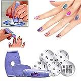 Design Kit/tampon pour kit de ongles Design/Kit de beauté/5Pre Nail Designed image avec plaques de 34Designs.