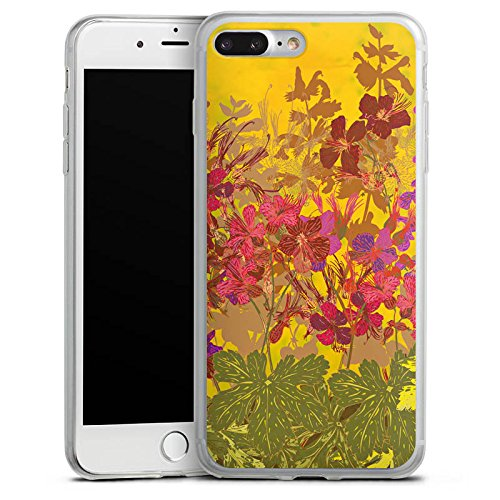 Apple iPhone X Slim Case Silikon Hülle Schutzhülle Sonnig Blumen Muster Silikon Slim Case transparent