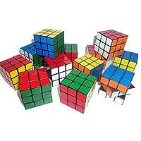 80s Party Decorations - 12 Mini Magic Cubes - 3.5cm x 3.5cm