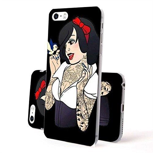 FINOO Coque pour téléphone portable Hardcase Tatouage Filles - Tatouage Fille Rouge, Iphone 6/6S Plus Tatouage Fille Oiseau