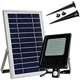 XYDM Floodlight solar 120 LEDs Sensor de movimiento Al aire libre El ahorro de energía Impermeable Garaje lámpara de seguridad